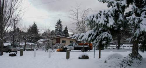 Mercer Island snowplow